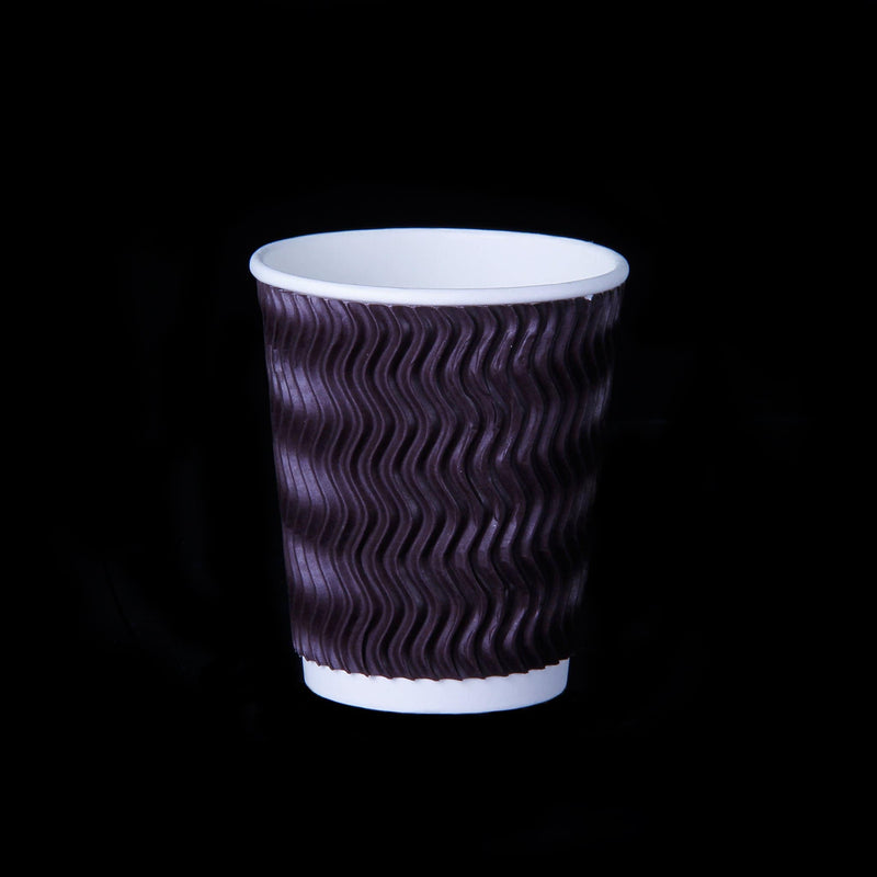 Hotpack Paper zig-zag ripple cup 8oz (25 pieces per packet)