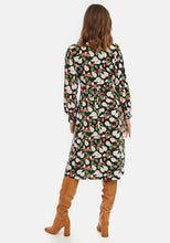 Load image into Gallery viewer, Pear Print Wrap Dress