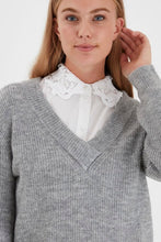 Load image into Gallery viewer, Grey Knitted Pullover