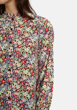 Load image into Gallery viewer, Black Floral Print Blouse