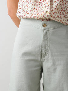 Linen Cotton Crop Trousers