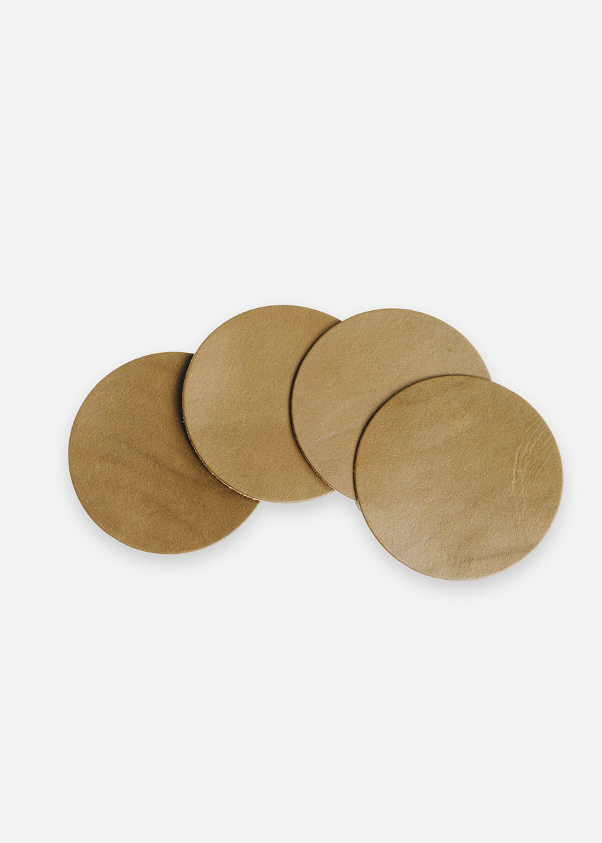 Olive Coaster Set in Latigo