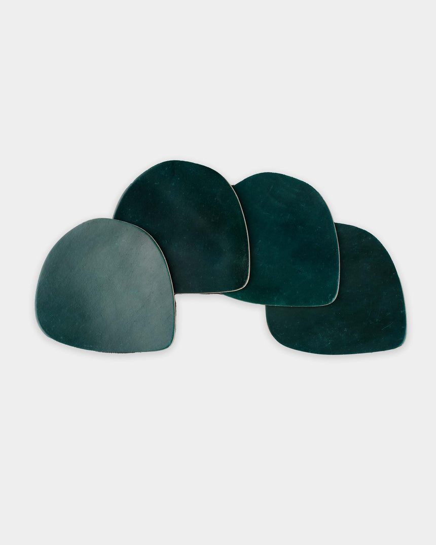 British Racing Green Coaster Stack in Shell Cordovan