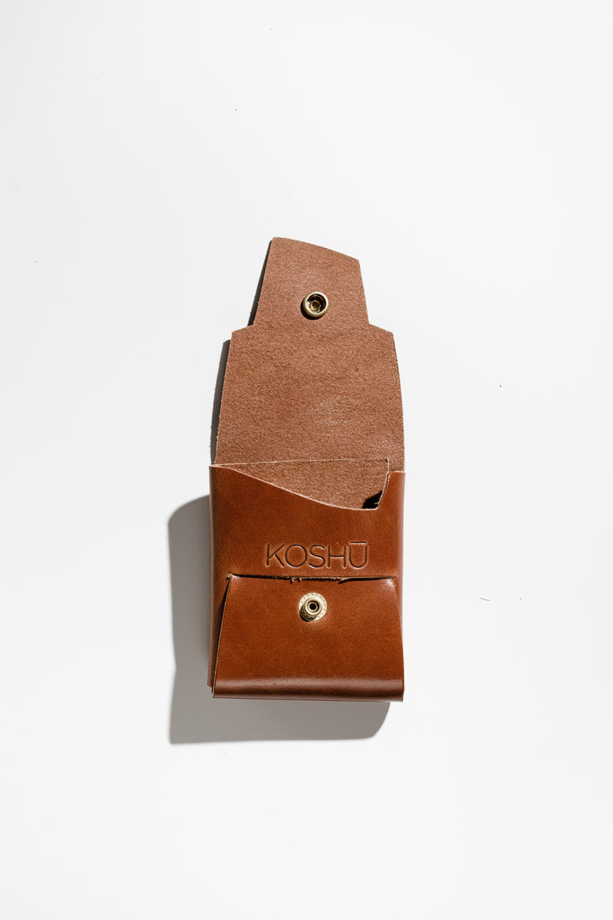 Whiskey in Bridle-Wallet-Koshū Brand-Polished Brass-Koshu Brand