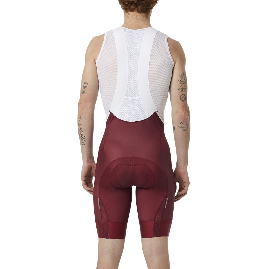 Men's Bib Shorts // BAROUDEUR Burgundy