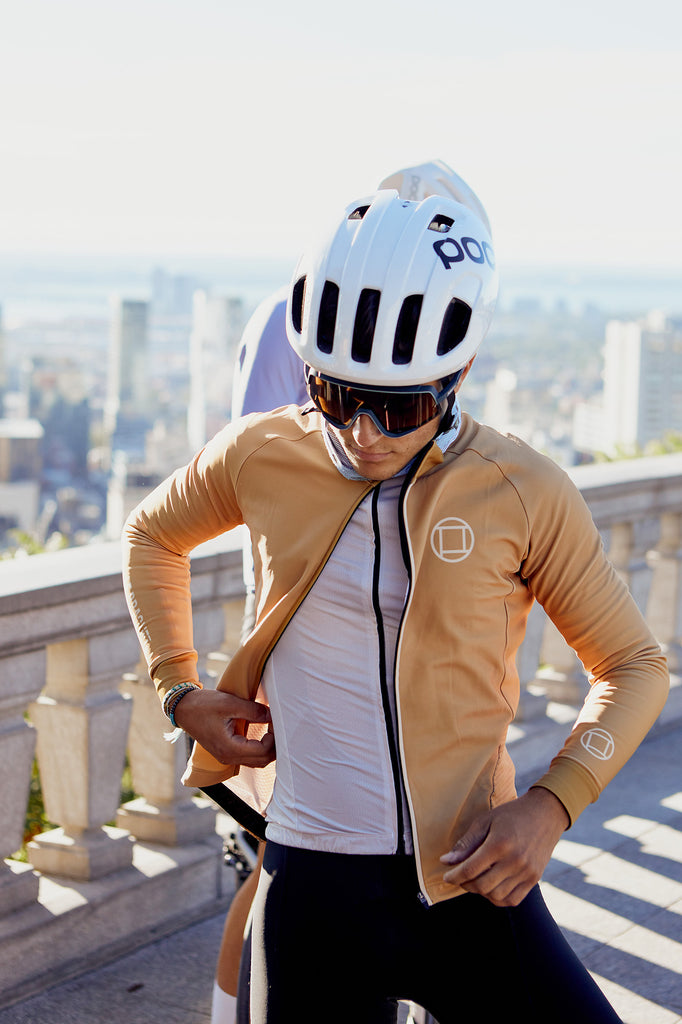 Men's Thermal Long Sleeve Vest // LOMBARD Sand