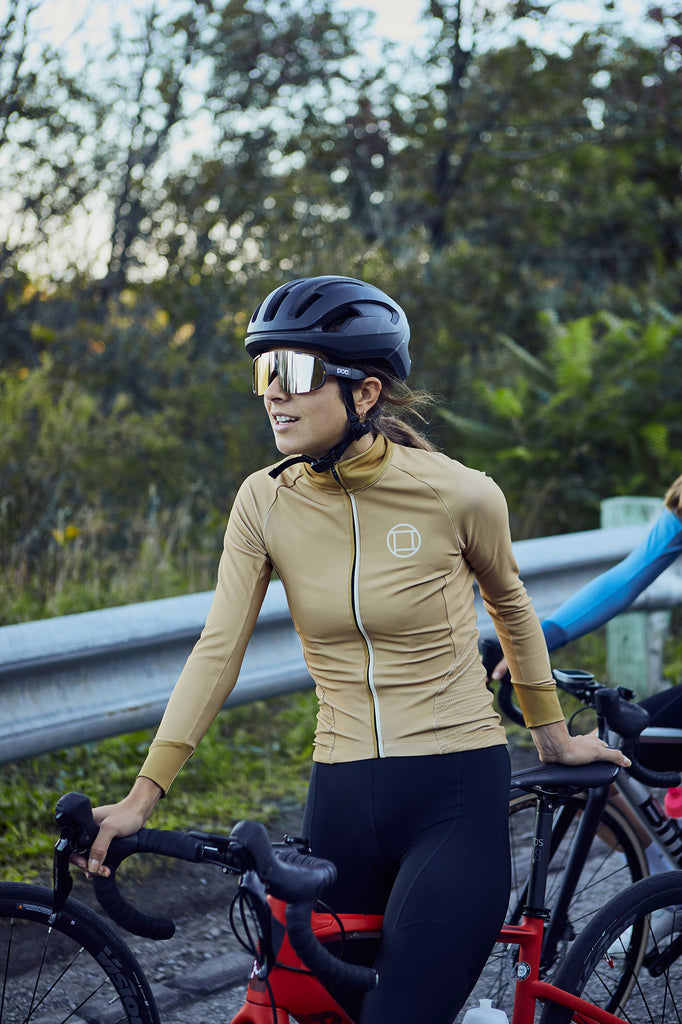 Women's Thermal Long Sleeve Vest // LOMBARD Sand