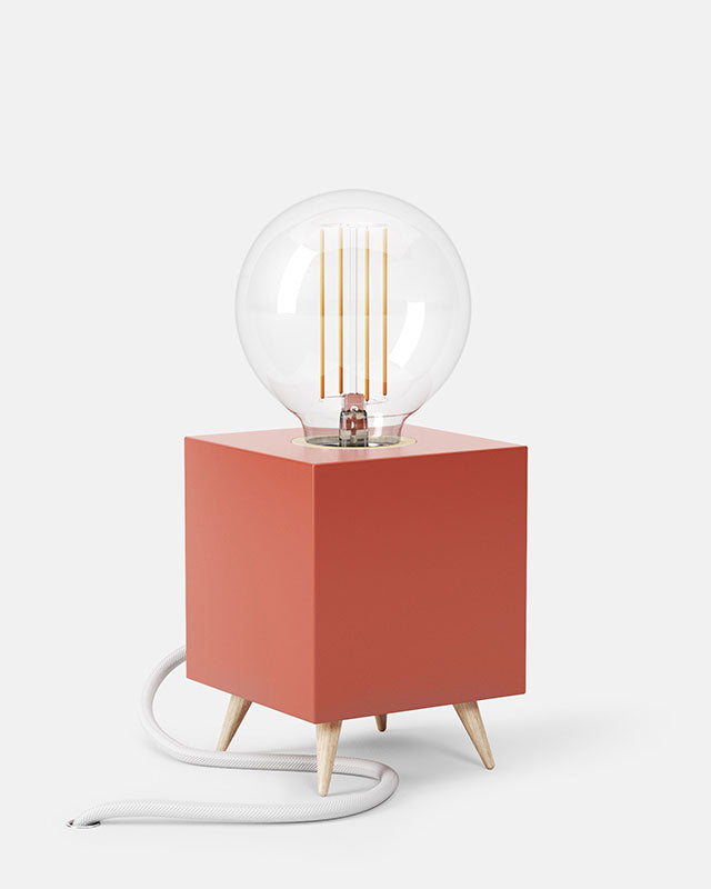 LOOMACUBE table lamp - red