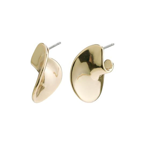 PILGRIM WISDOM GOLD WAVE EARRINGS
