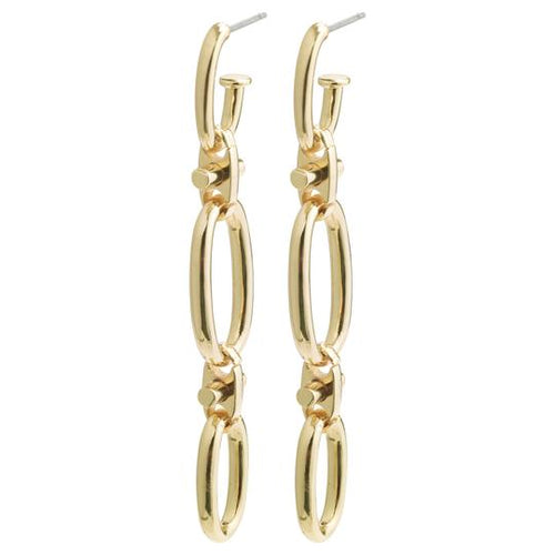 PILGRIM WISDOM GOLD CHAIN LINK EARRINGS