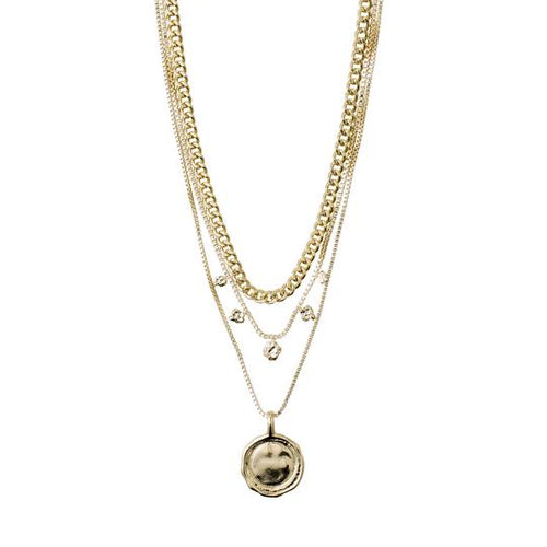 PILGRIM GOLD 2-IN-1 NECKLACE SET: AIR