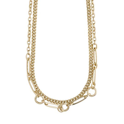 PILGRIM GOLD SENSITIVITY 2-IN-1 CHAIN NECKLACE