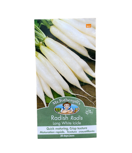 "Mr. Fothergill's - Radis ""Long White Icicle"""