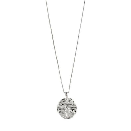 PILGRIM SILVER AFFECTION COIN NECKLACE