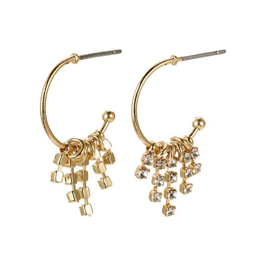 PILGRIM GOLD CRYSTAL HOOPS : FIRE ELEMENT