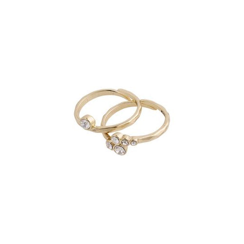 PILGRIM GOLD FRAN 2-IN-1 RING SET