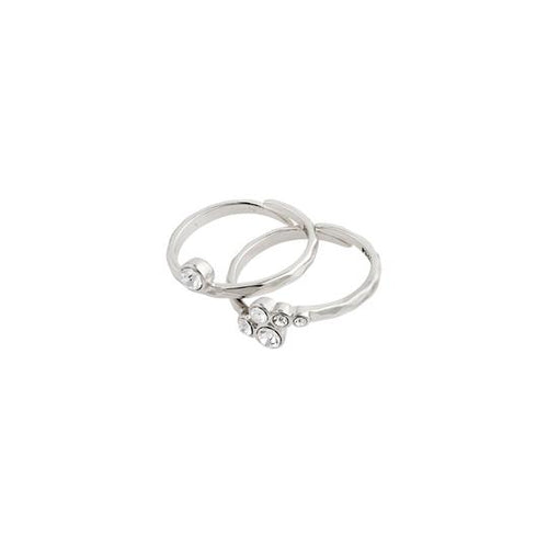 PILGRIM SILVER FRAN 2-IN-1 RING SET