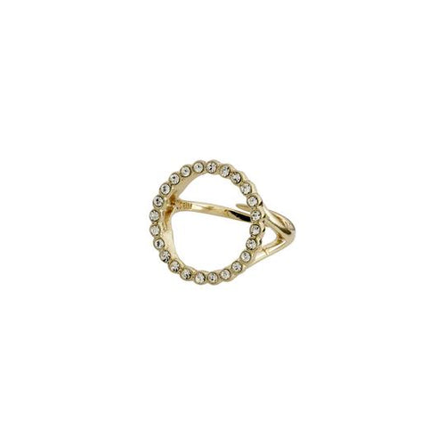 PILGRIM GOLD DAISY CRYSTAL RING