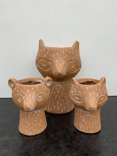Cachepot  Little fox,  Little Bear,  Big fox from