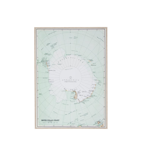 Canvas - Map of Antarctica