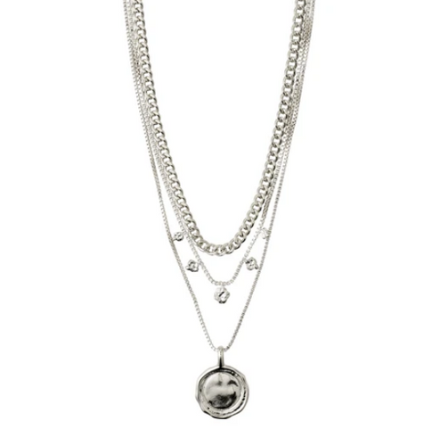 PILGRIM SILVER 2-IN-1 NECKLACE SET: AIR