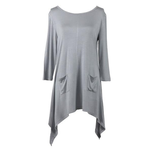 LOUNGE LUXE GRAY TOP