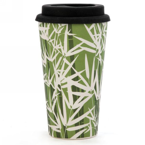 Travel mug in bamboo ''Foliage