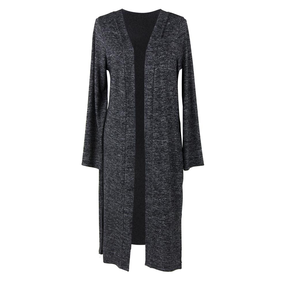 CARDIGAN NOIR LONG