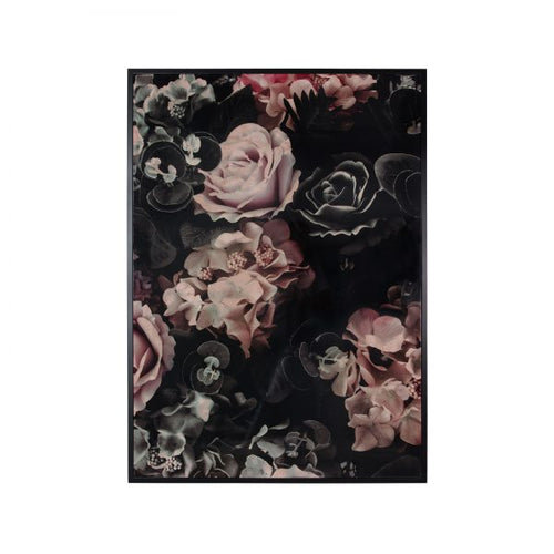 Canvas Wall Decor – Glossy Floral