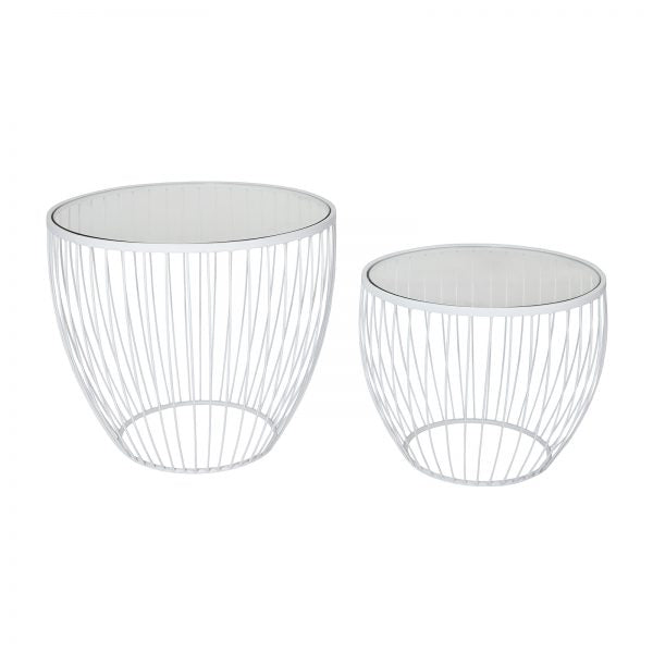 Tables d'appoint– Blanc mat