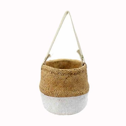 'Belly basket' in 6-point cement - white and natural