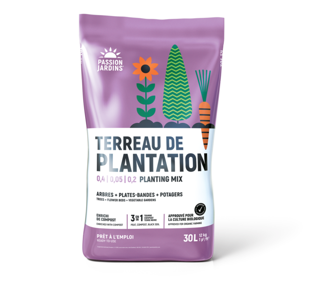 Terreau de plantation 3 en 1 PASSION JARDINS