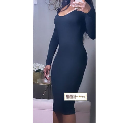 Basic Midi Dress (Black)