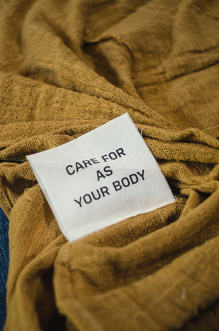 Bodies As Clothing Care Label