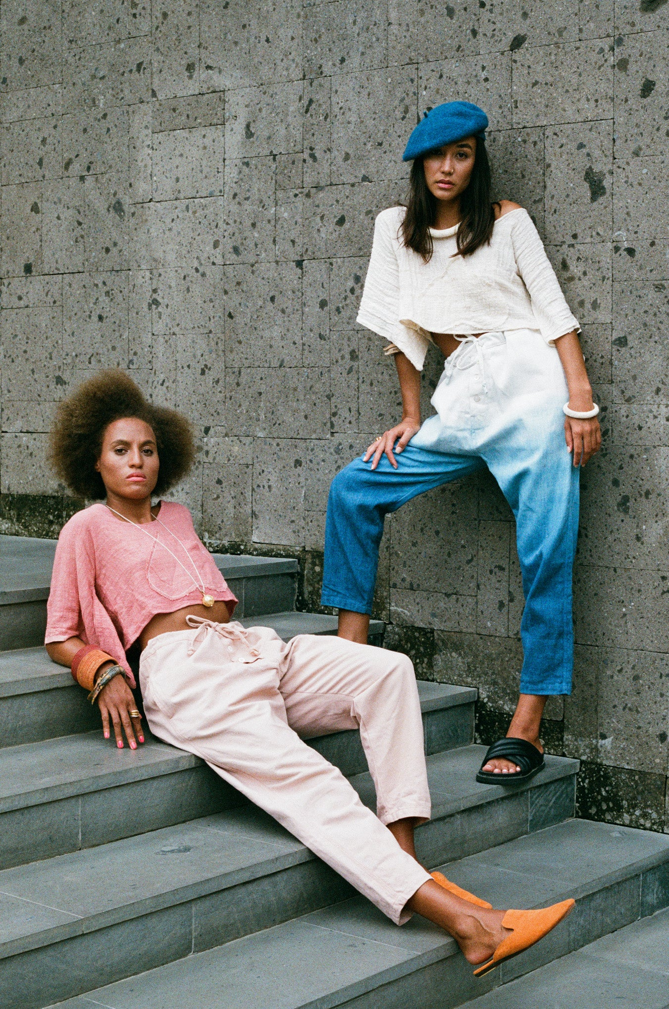 Lookbook Parachute Pants Amira and Blaine