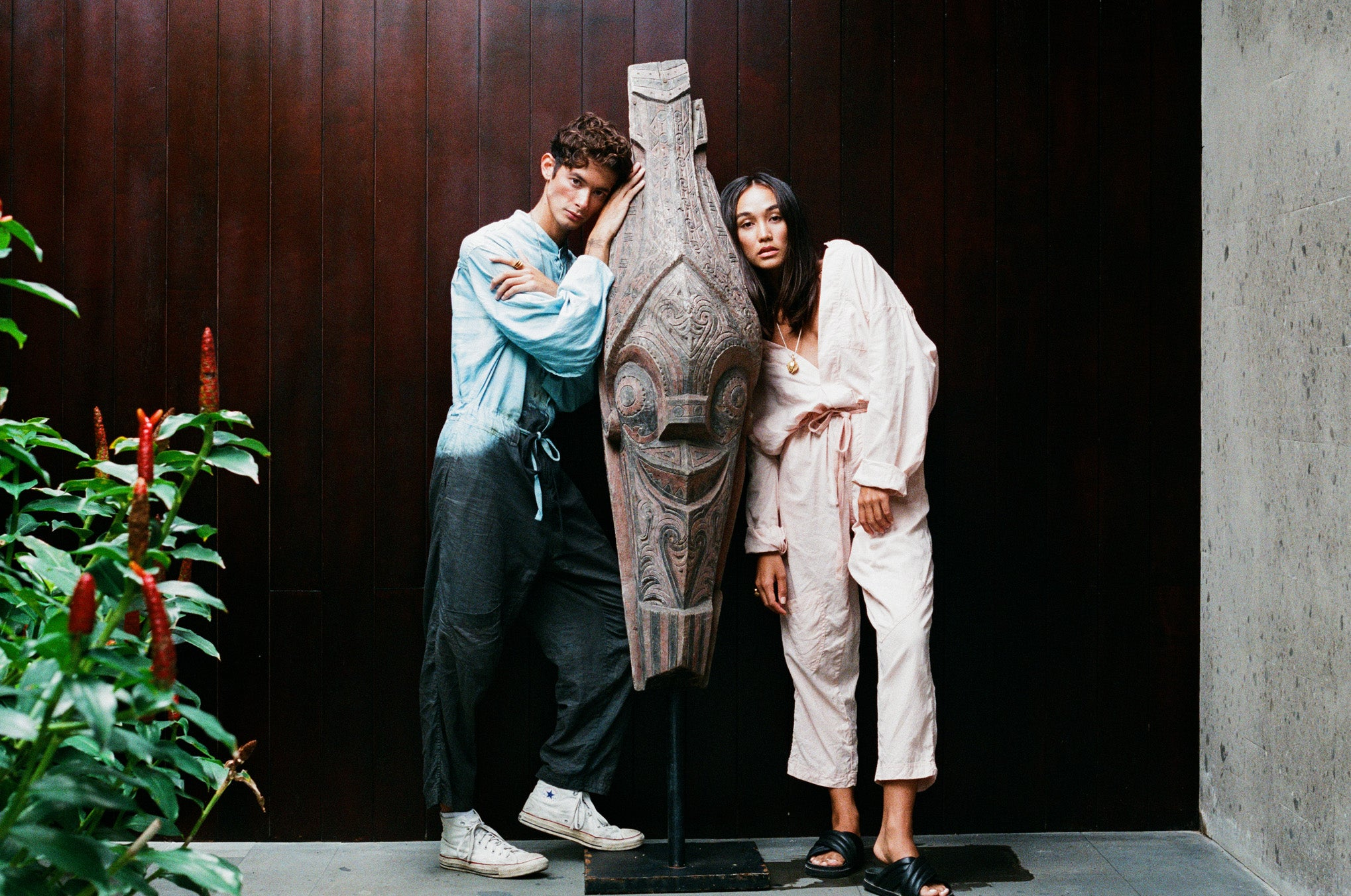 Lookbook Shot Johnny and Amira in Adventure Sail Jumpsuits