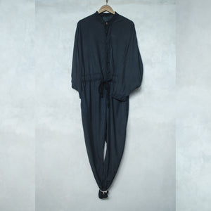 Sail Silk Jumpsuit Umbrella Tree Black Product Shot