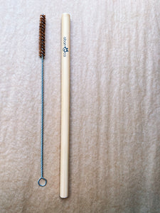 Bamboo straw and straw cleaner