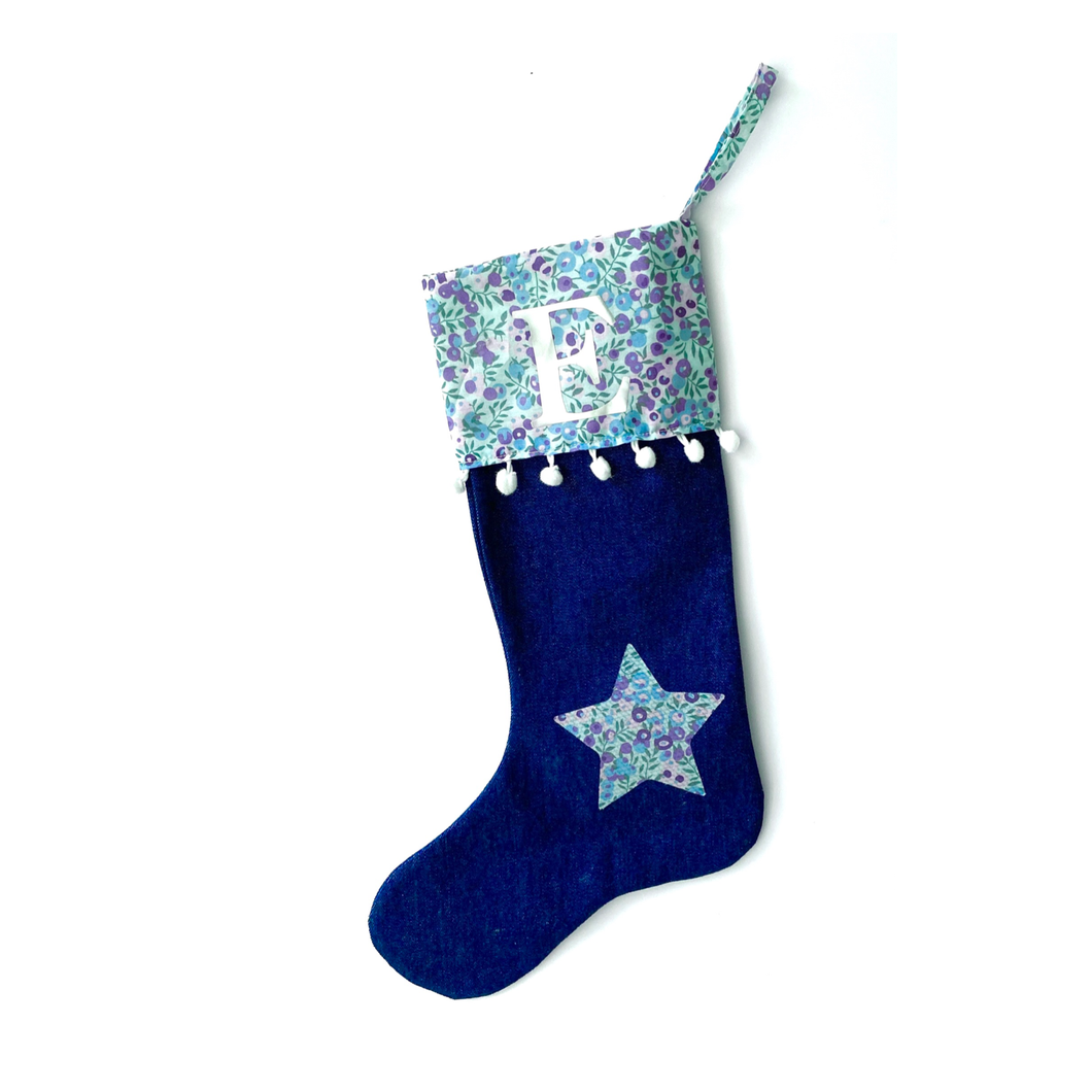 Liberty personalised Christmas stocking