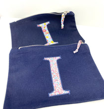 Load image into Gallery viewer, Ready to post Liberty personalised zip bag letter I