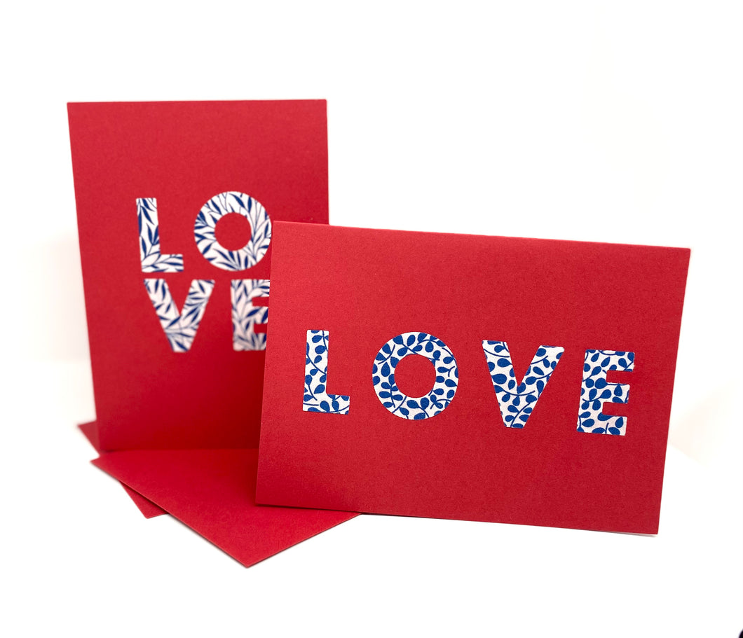 Liberty Valentine LOVE card