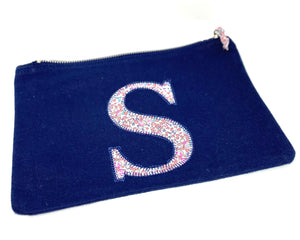 Ready to post Liberty personalised zip bag letter S
