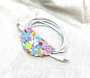 Liberty fabric phone cable tidy