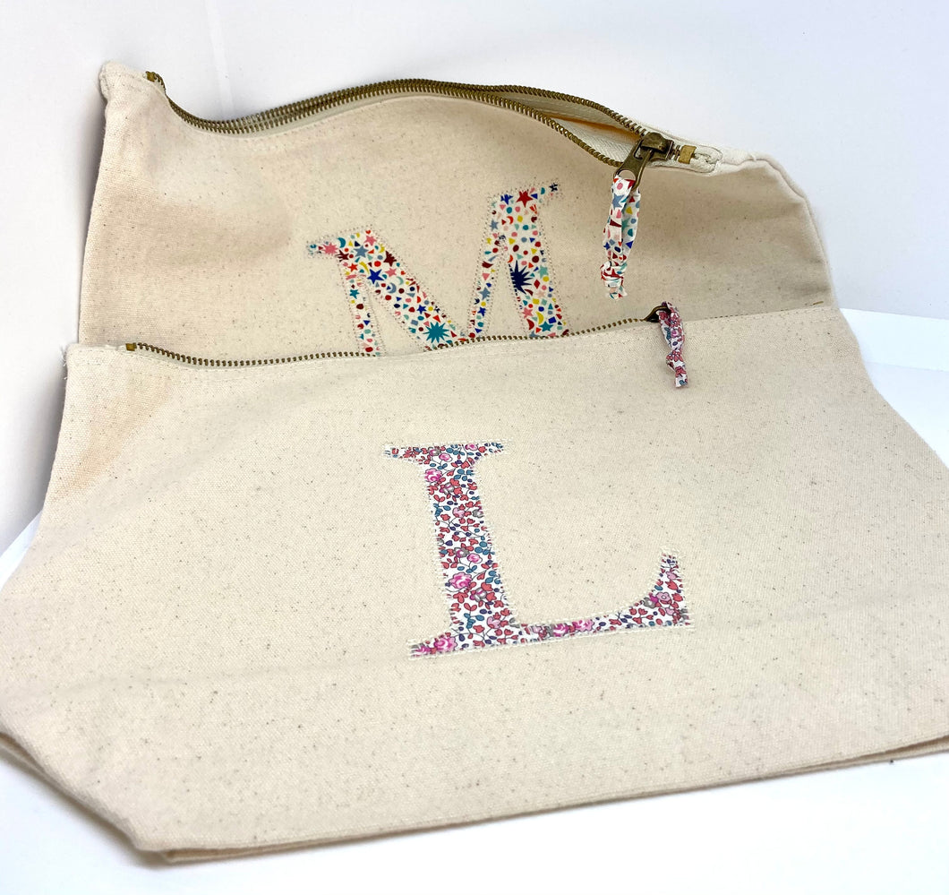 READY TO POST Liberty personalised zip bag
