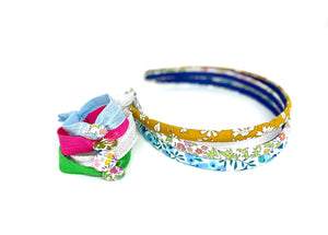 Liberty skinny head band - 16 fabric choices