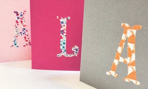 Liberty personalised greeting card