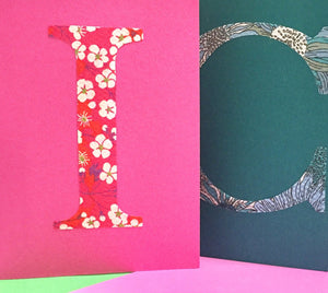 Personalised Liberty greeting card with bright coloured envelope
