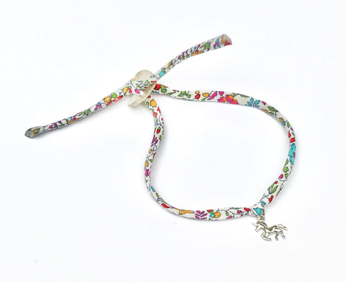 Liberty unicorn bracelet with pearl button
