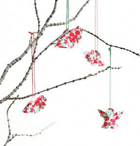 Liberty Christmas decoration - Liberty of London fabric Christmas angel decoration