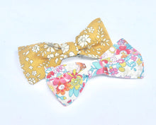 Load image into Gallery viewer, Liberty fabric bow on barrette hair clip